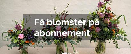 Køb blomster på abonnement