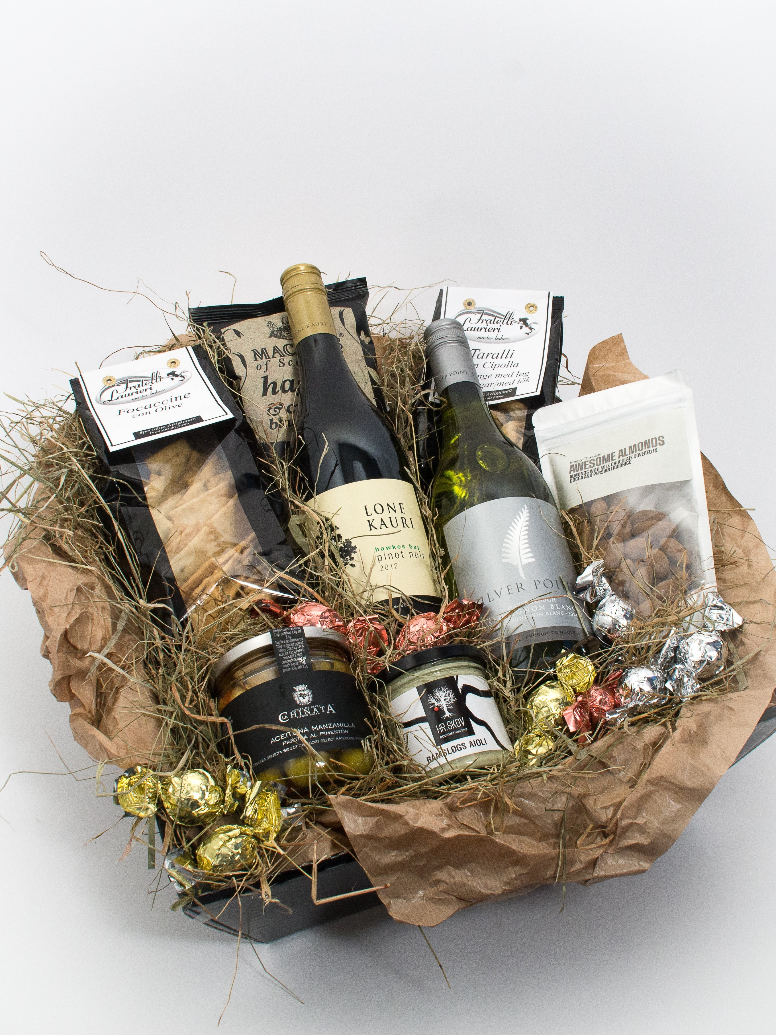Vin og specialitetskurv