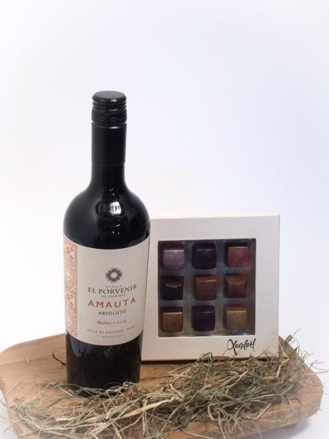 Rødvin og chokoladeæske